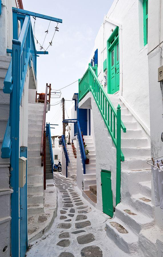 streets of Hora - Mykonos, Greece