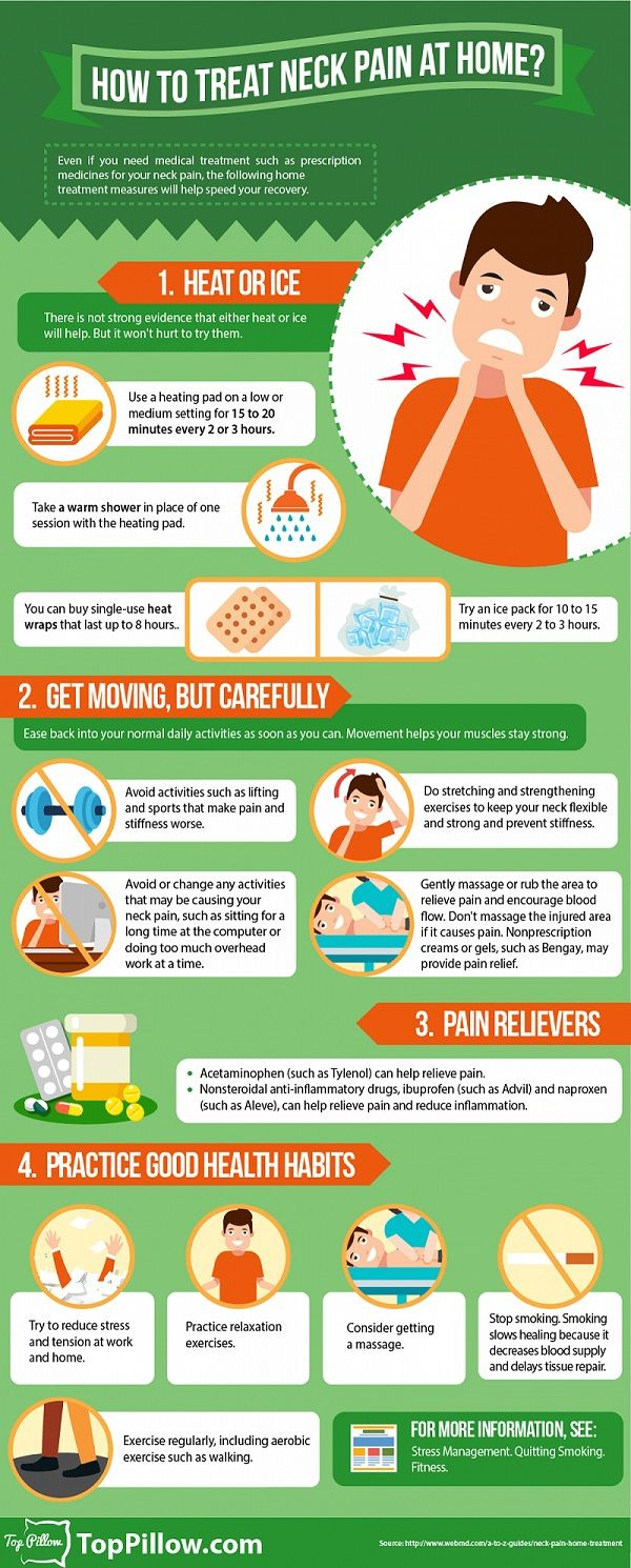 Infographic: How To Treat Neck Pain At Home - DesignTAXI.com
