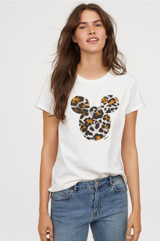 d8226c359ca3 T-shirt with Motif in 2019 | Disney | Animal print t shirts, Fashion ...