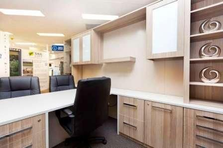 Gorgeous home office setup with plenty of drawer space!  #StorageHeaven