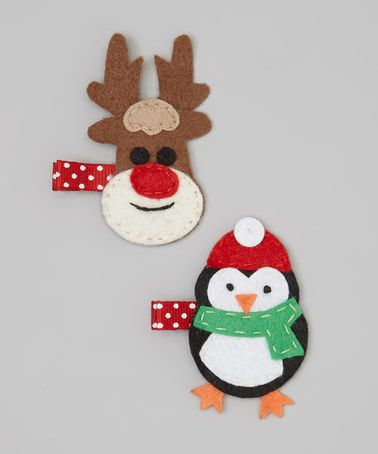 Take a look at this Reindeer & Penguin Clip Set by Snuggle Bug Kidz on #zulily today!
