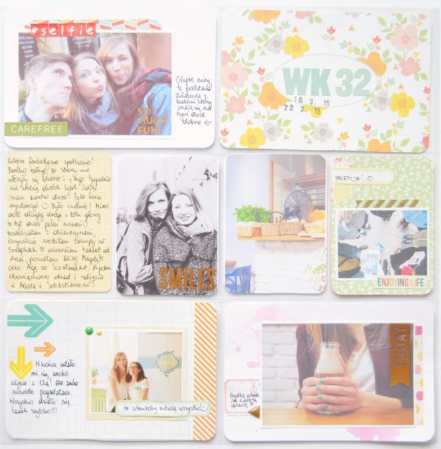 In The Scrap: Project Life page - Por Justt