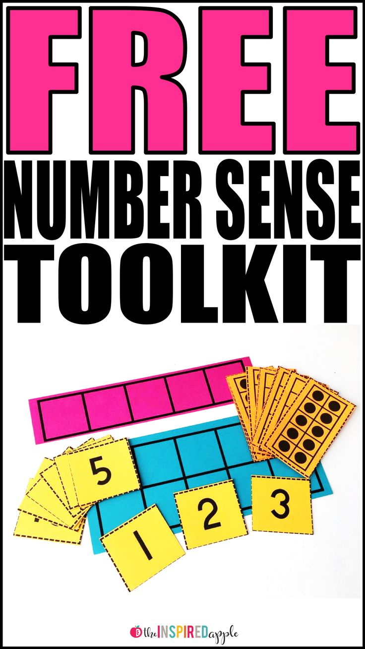Grab this FREE number sense toolkit that includes a five frame, a ten frame, number cards 0-20, and a set of ten frame cards 0-10. Simply stash them in a gallon sized baggie, clear plastic sleeve, or dry erase pocket for simple storage and organization. T