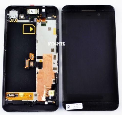(26.99$)  Watch now  - Touch Screen LCD Digitizer Frame Assembly Replacement For Blackberry Z10 3G Blackberry_Z10_LCDAssemlbyFrameBlack