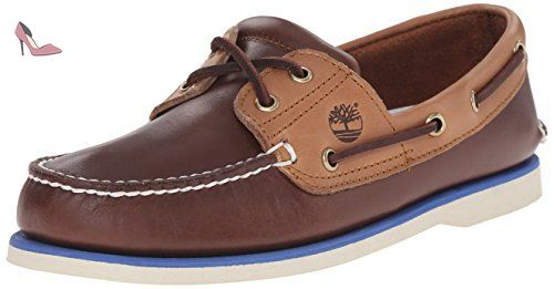 Classic Boat 2 Eyepotting Soil and Tan Two-Tone, Chaussures Bateau Homme, Marron (Potting Soil and Tan Two-Tone), 40 EUTimberland