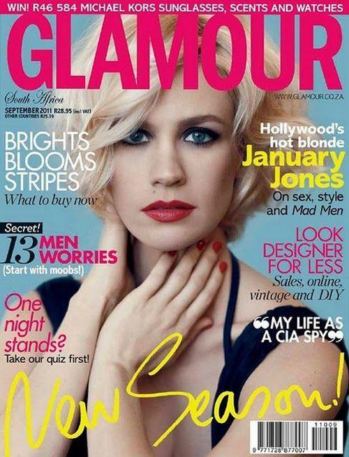 January Jones for Glamour, September 2011