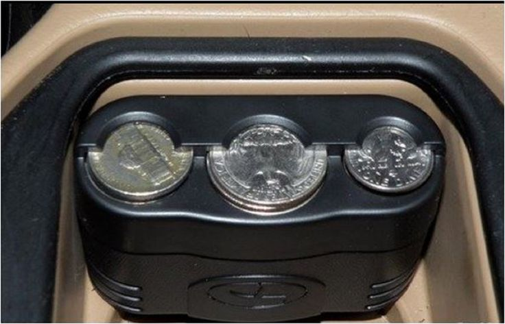 Car Coin Holder Compact Change Cup Box Dimes Console Case