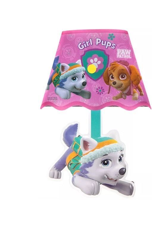 Paw Patrol Lamp Shade Kids Night Light Bedroom Decor Skye Pink Girls Room Gift    eBay