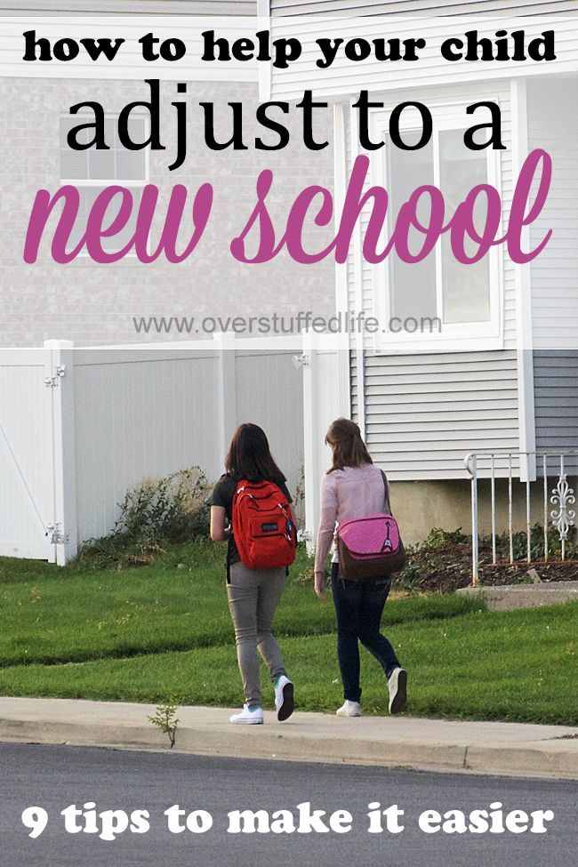 Moving to a new school is hard! Help your children get adjusted to a new school by using these 9 tips.