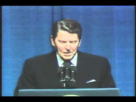 Reagan telling a joke about Democrats