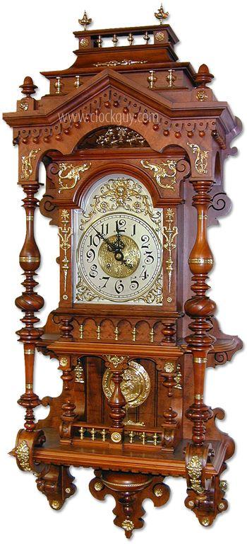 Gustav Becker Open-Well Clock (easily mistaken as Lenzkirch) ~ Antique Clocks…