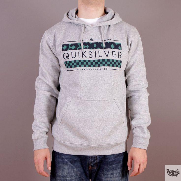 Szara bluza z kapturem Quiksilver Hood Rib Good G3 - kolekcja Fall/Winter 2014 / www.brandsplanet.pl / #quiksilver