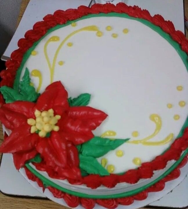Dairy Queen Cake poinsettia