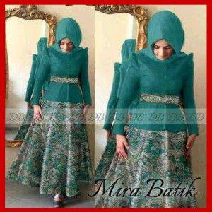 Baju Busana Gamis Pesta Terbaru Mira Batik KM207