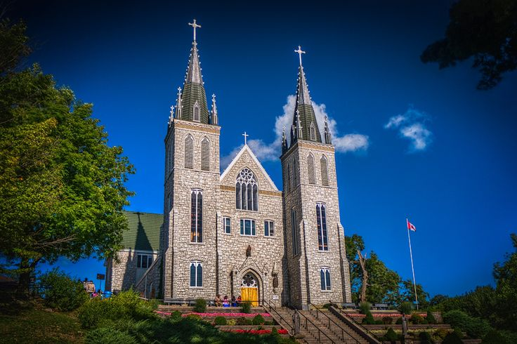 The Martyrs' Shrine is a Roman Catholic church in Midland, Ontario, Canada, which is consecrated to the memory of the Canadian Martyrs, six Jesuit Martyrs and two lay persons from the mission of Sainte-Marie among the Hurons.