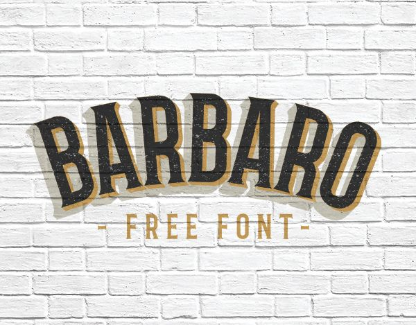 Barbarofree fontis serif with two versions, roman and western, with a really cool look that take us to those old western movies titles the western version is really cool. The roman version is also suitable for other hipster moods. It's free for personal and comercial use. Another must have. Credits for:Iván Núñez   ...