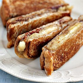 Paninis, Peanut butter banana and Peanuts on Pinterest