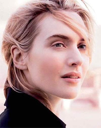Kate Winslet. I find her to be one of the most beautiful actresses. She is exquisite.