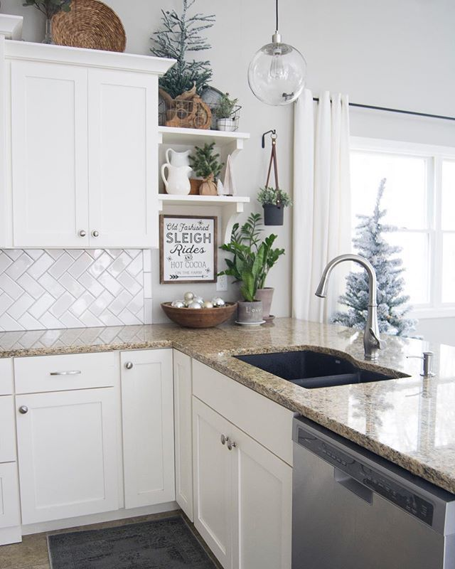 White Winter Kitchen Decor Ideas Kitchen Decor Ideas Modern Farmhouse Kitchen Christmas Kitchen Decor Kitchen Decor Kitchen Design