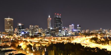 Interior Design and Home Decoration Artwork from Art Australia - buy this original signed print in 3 sizes.  Perth Nightscape Kings Park by David Rennie available via http://www.art-australia.com/perth-nightscape-kings-park-by-david-rennie/
