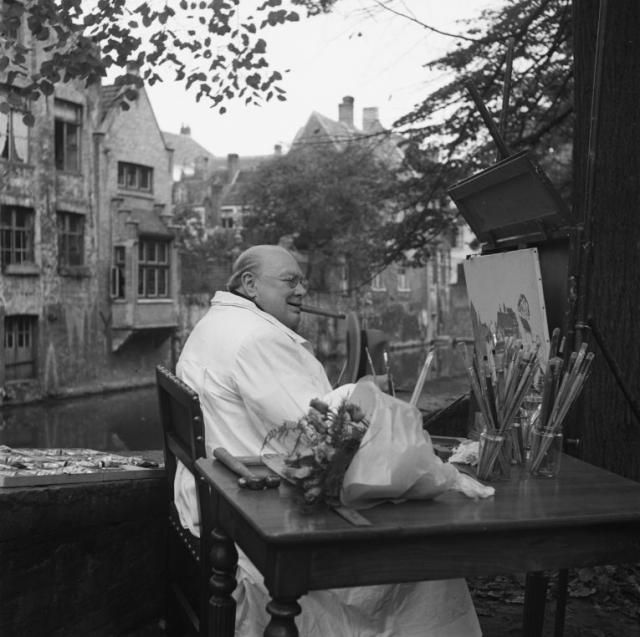 Gallery & Movie - B&B Coté Canal - Huyze Hertsberge Bruges ;;; //////   Winston Churchill was a regular visitor of Bruges