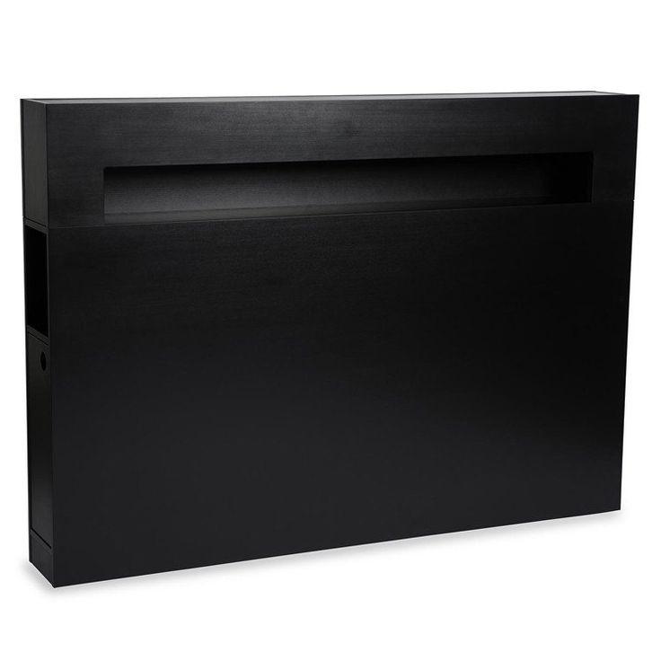 Zebra Collection ~ WILMA sänggavel i svart bok 160-210 cm