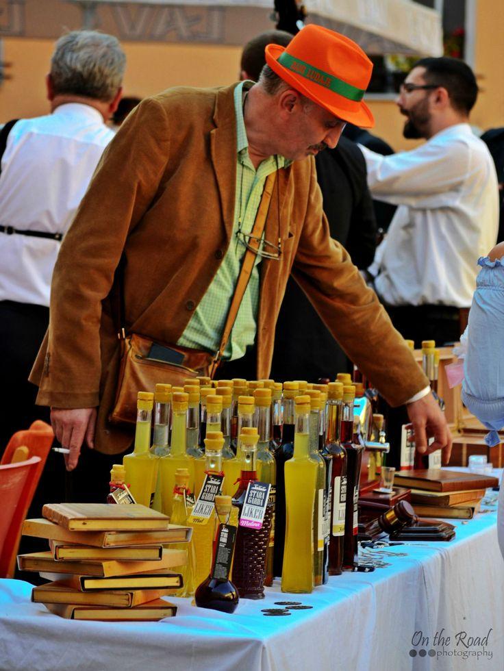 Vendor at the Pumpkin Festival in Kikinda
