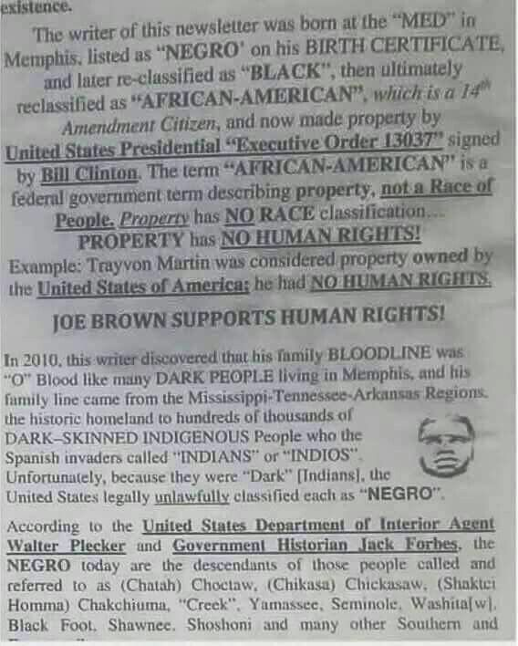 "Keep this in mind all you proud ""African Americans""."