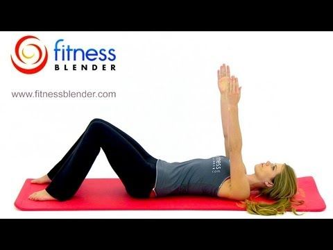 Fitness Blenders Low Impact Beginner Pilates Workout - Great Post Pregnancy Workout for New Mothers