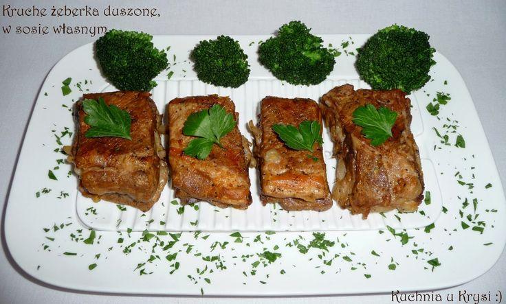 Kuchnia u Krysi: Kruche żeberka duszone, w sosie własnym