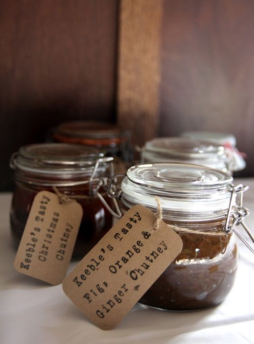 Homemade chutney to go with a ploughman's lunch in summer or cheese and biscuits around Christmas