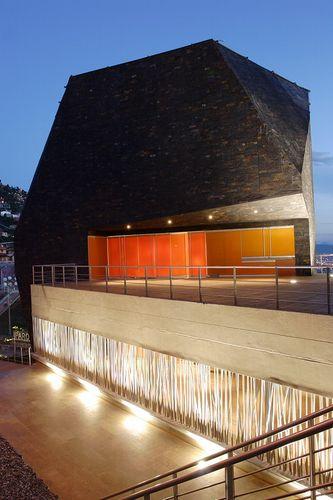 Espectacular Biblioteca Parque España con una fachada de lajas de pizarra natural | #pizarra #arquitectura #fachada #design