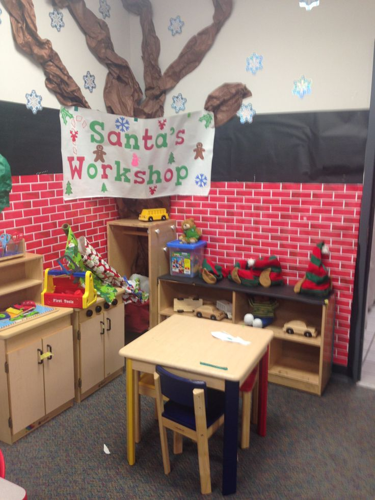 Super cute, Santa's Workshop pretend and play station!