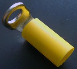 Right Angle LUG  Solderless Crimp Terminal .210 Yellow Right Angle Ring Lug Thomas & Betts RC367U