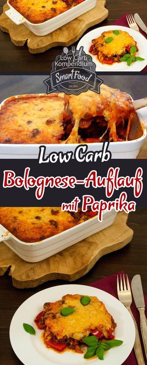 Low-Carb Bolognese-Auflauf - Dieses Rezept ist ganz einfach zuzubereiten, lecker mit Käse überbacken, mit gesunder Paprika und so köstlich :)