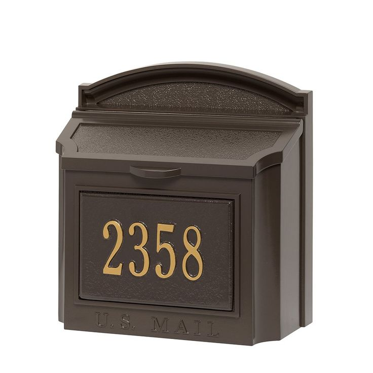 Whitehall Wall Mount Mailbox Bronze With Address Plaque 16104 | Whitehall Mailboxes | Wall Mount Mailboxes | 16012 | Residental Mailboxes | Mid-Atlantic Mailbox Inc.
