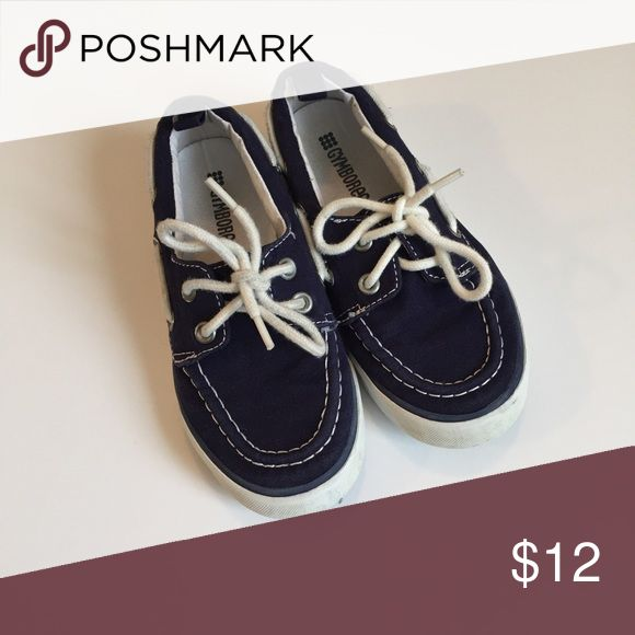 Gymboree Boat Shoes Gymboree navy blue boat shoes! Still in great condition! Only worn a handful of times! Gymboree Shoes