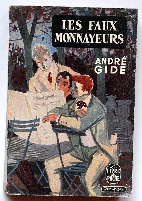 https://flic.kr/p/9c9hGZ | Les faux monnayeurs, André Gide | Les faux monnayeurs, André Gide le livre de poche, Paris, 1956 n° 152 / 153 couverture: Lucien Fontanarosa (thanks to swallace!)