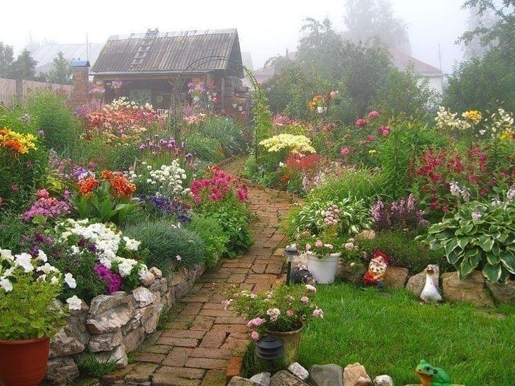 дачные сады цветники фото любителей сих пор природа