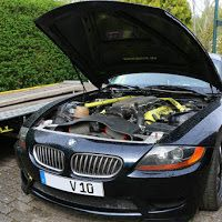 A rather ridiculous Dodge Viper powered BMW Z4 is currently for sale in Germany!