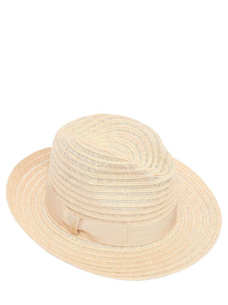 BORSALINO WIDE BRIM STRAW HAT. #borsalino #