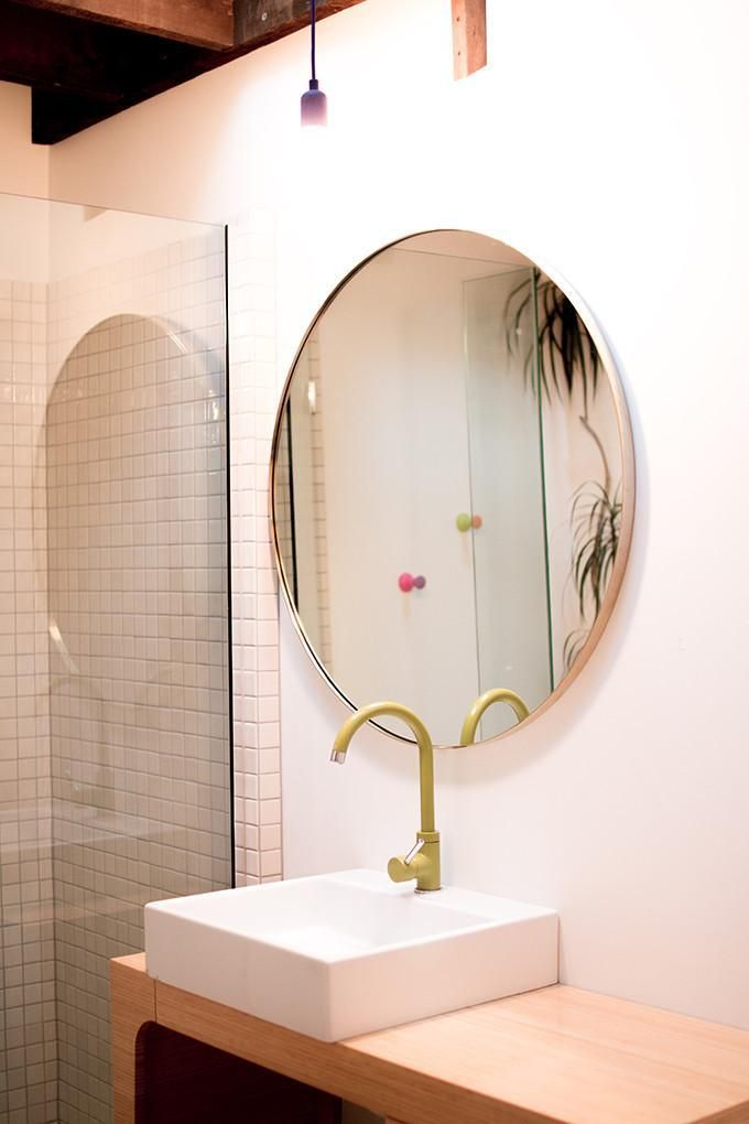 Outline Wall Mirror Polished Brass, Rose Gold Bathroom Mirror Cabinet