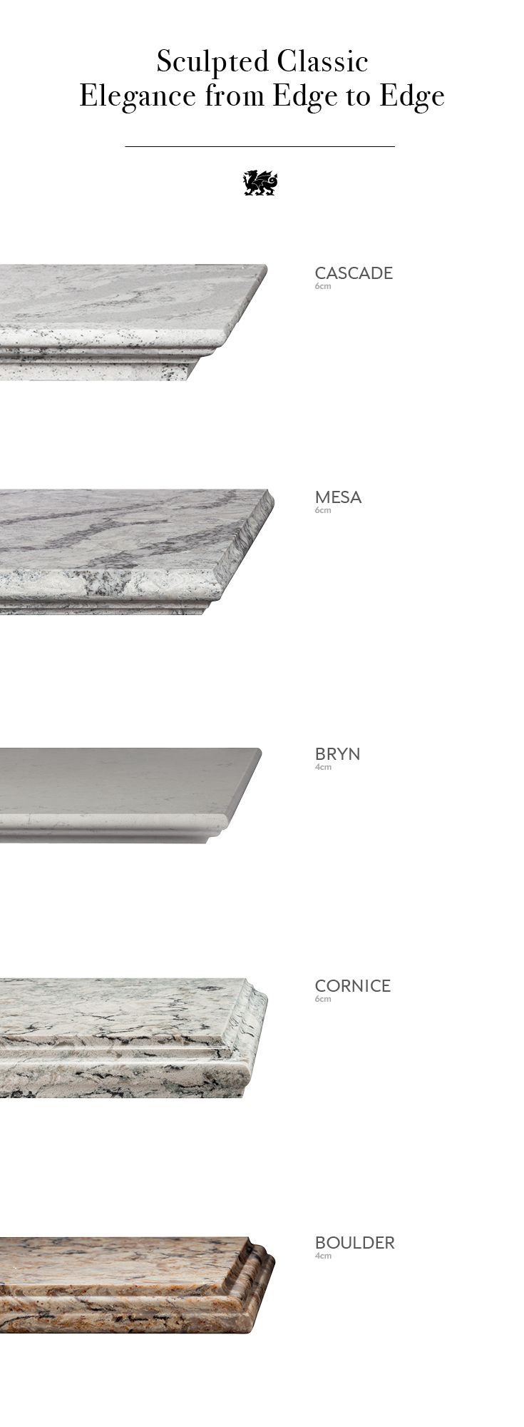 The right quartz countertop edge profile can add an air of elegance to your classic kitchen reno. Consider these five design choices for a traditional finish.