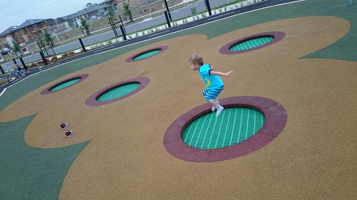 Trillium playground Rosette Parade Mickleham Tramoplines