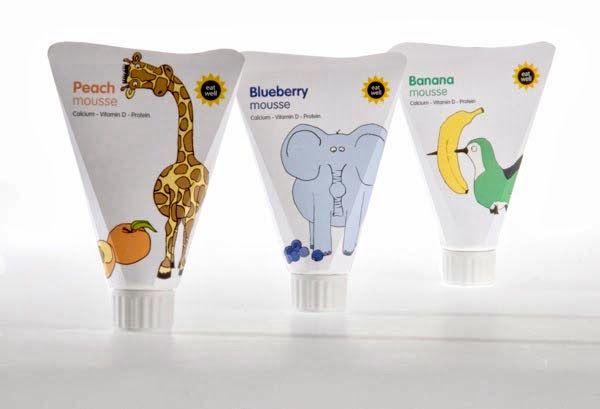 Yogurt Packaging Design and Ideas: Hay que imprimir las fotografías de a cada uno de los empaques *seleccionar las más significativas según lo que tenemos o lo que no tenemos.