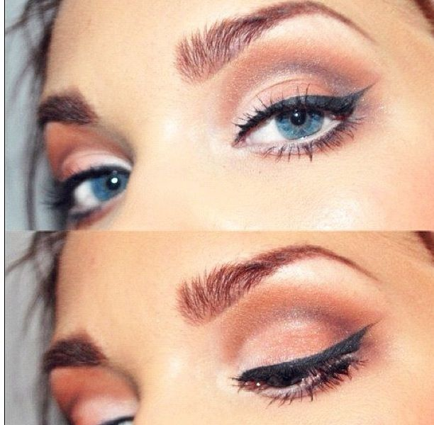 Neutral look that could be accomplished using @Urban Decay 's Naked 3 pallete!