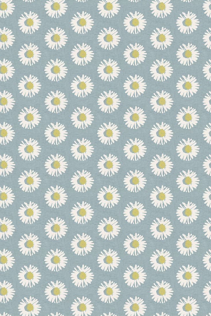 A pretty daisy head floral motif design on a linen look background.