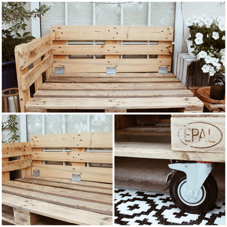 Make DIY furniture out of pallets yourself – build balcony furniture yourself