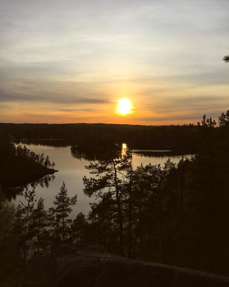 Sunset at Repovesi National Park