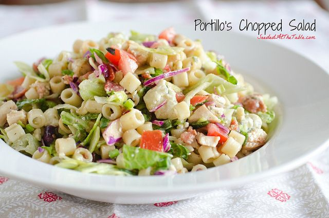 Portillo's Chopped Salad [Portillo's copycat] #copycat #recipe